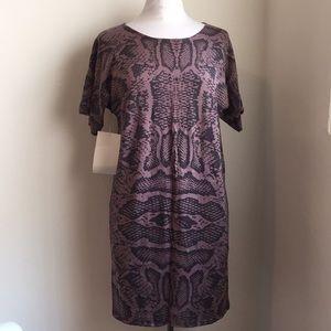 NWT Animal Print Cotton/Silk Knit Dress Size Small